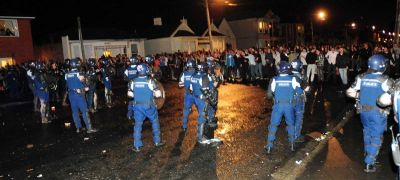 students_and_police_clash_for_second_night craig baxter ODT
