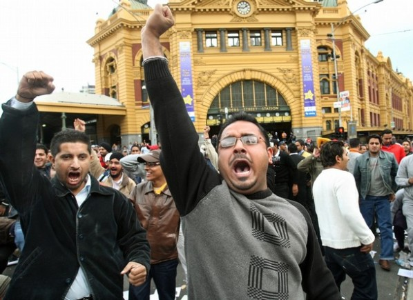 Indian Students protest in Melbourne-