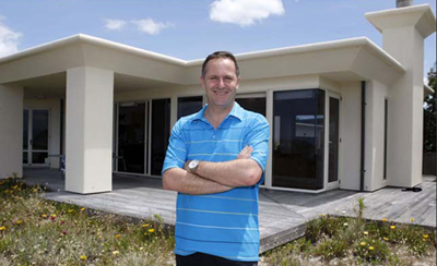 NZ PM John Key showing off his $3.3 million villa in 43 Success Court, Omaha (near Auckland). He also own a $5.6 million townhouse on Ho'olei, the southern side of Maui Island, Hawaii