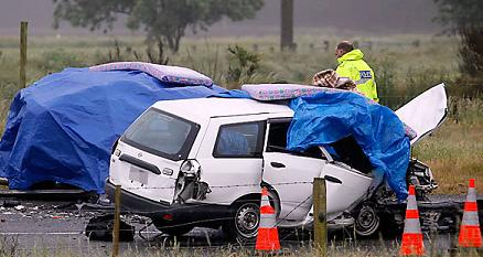 road crash no 2 monday 25nov2013 NZ police photo